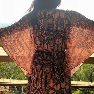 Free People Dresses - FREE PEOPLE MAXI DRESS Draped boho long gown
